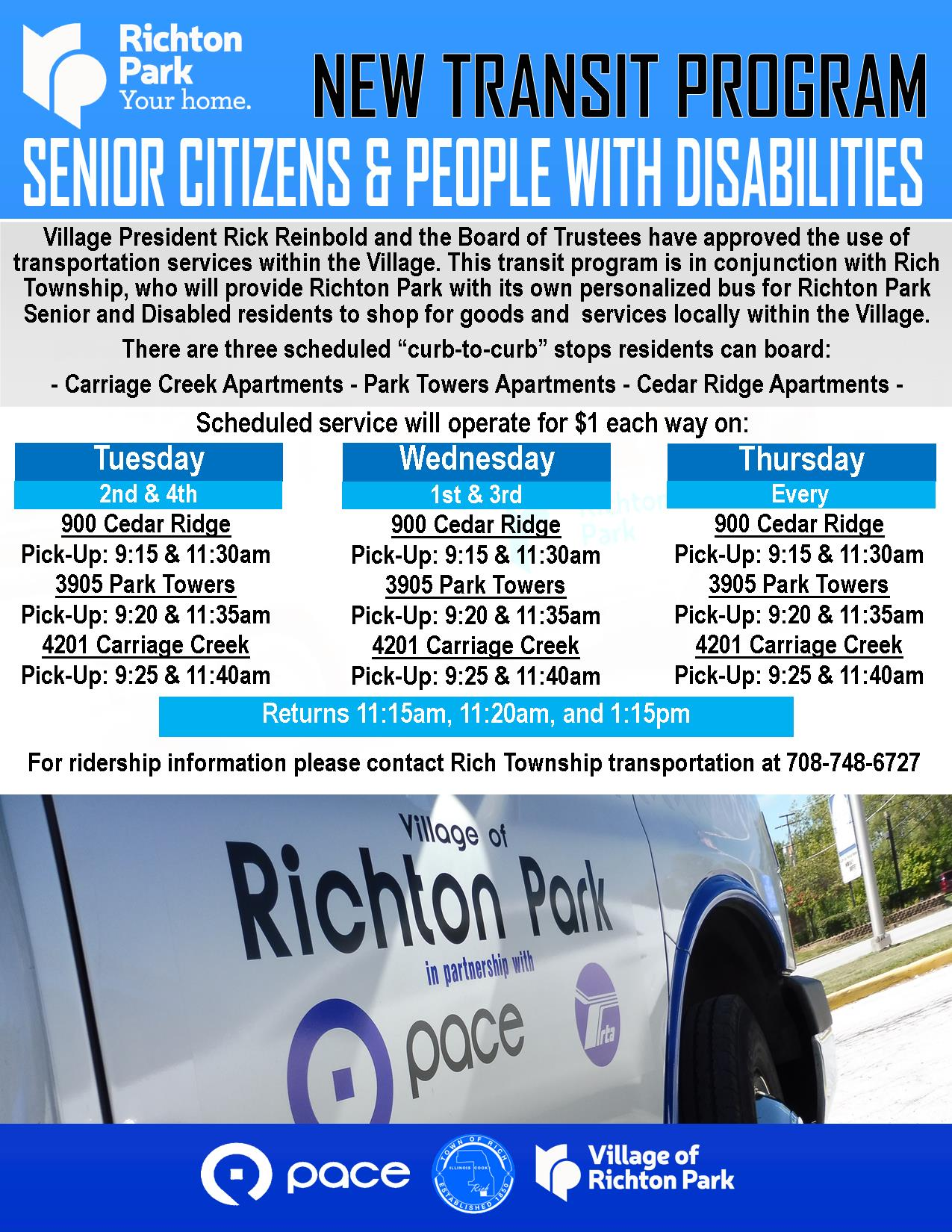 Richton Park - Township - Transit Program 2019
