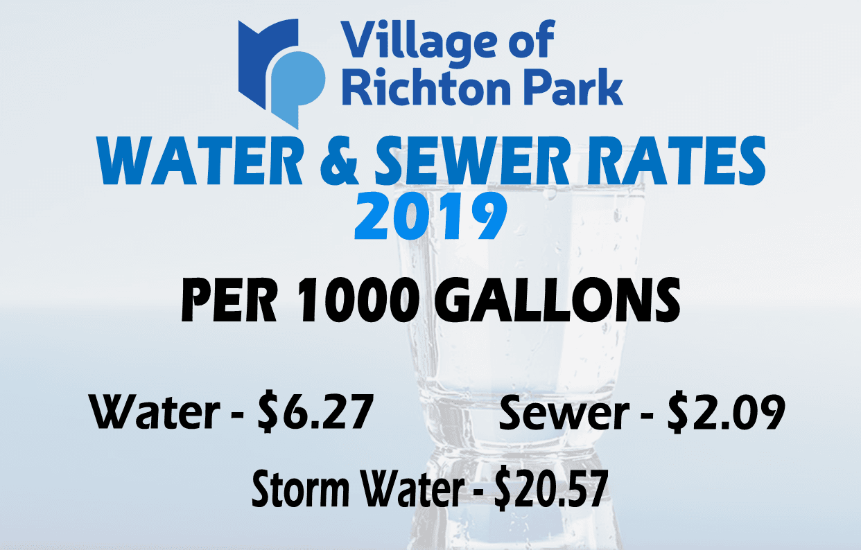 Water n Sewer Rates 2019 - 1K gallons
