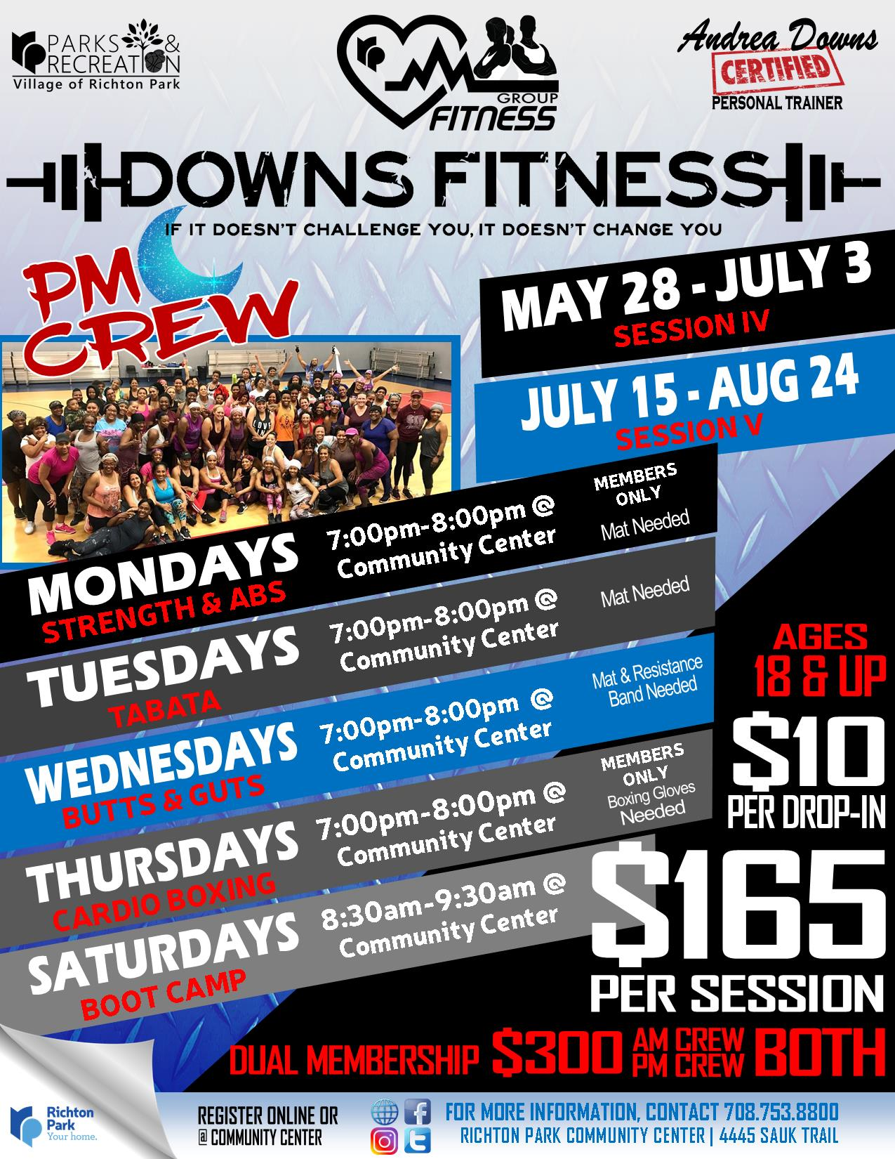Downs Fitness 2019 - MAY-AUG - PM