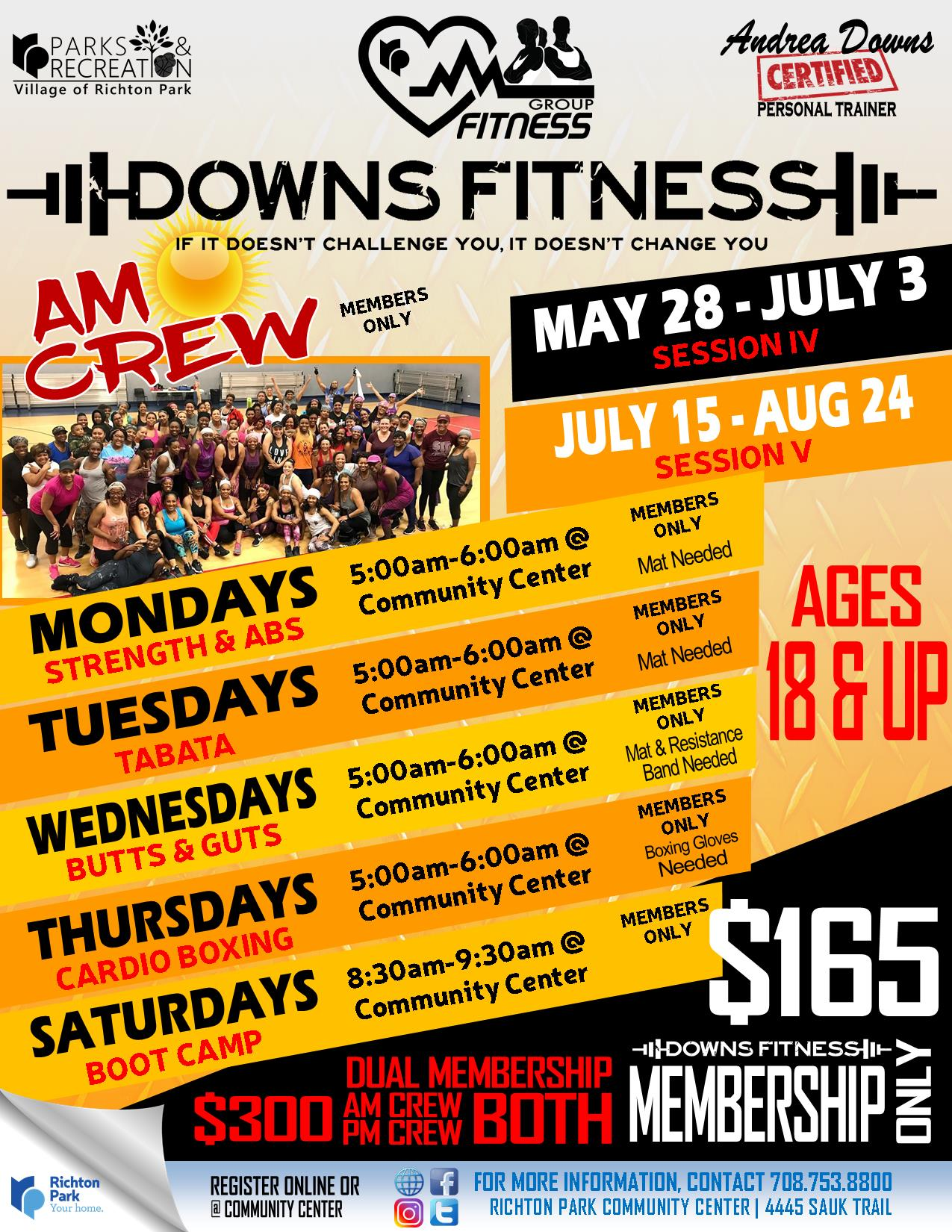 Downs Fitness 2019 - MAY-AUG - AM