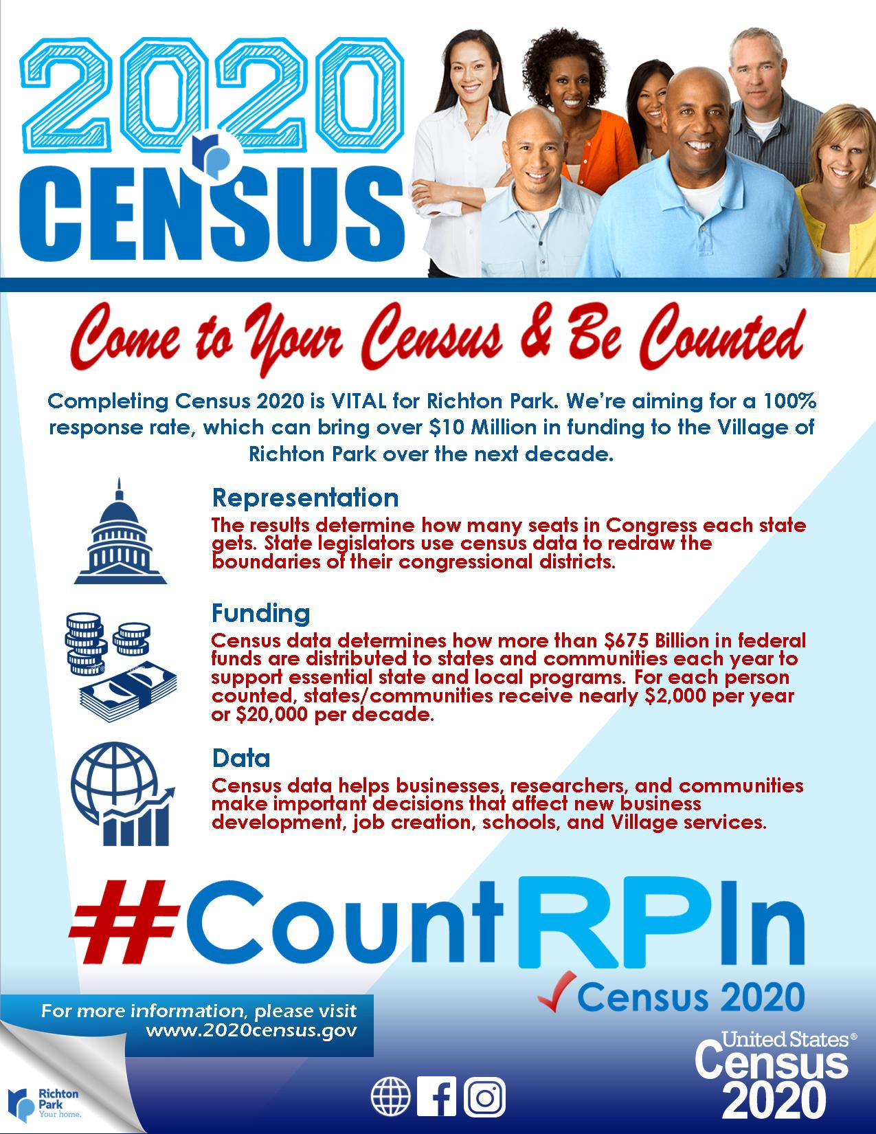 Richton Park Census2020 Promo May 2020
